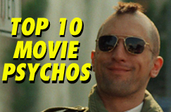 Top Ten Movie Psychos